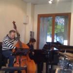 Jam session - Mohamed Ali Ben Gara (contrebasse) accompagne un élève pianiste
