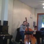 Jam session - Mohamed Ali Ben Gara (contrebasse) et un élève pianiste
