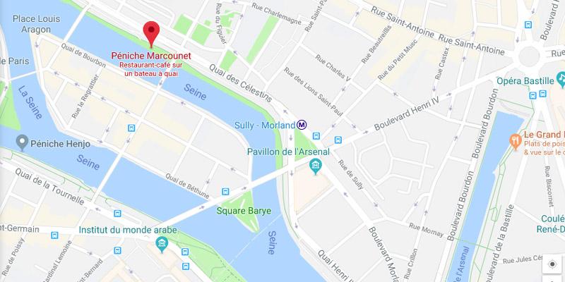 Plan concert d'élèves Péniche Marcounet (Paris 2018)